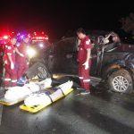 รถยนต์กระบะเสียหลักตกร่องกลางถนนพลิกคว่ำหลายตลบเสียชีวิต 2 ราย